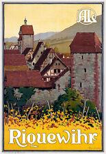 Affiche chemin de fer Alsace Lorraine - Riquewihr