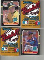 1987 Donruss Maddux + McGwire Baseball Cards + 2 Unopened Wax Packs!