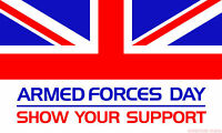 "ARMED FORCES DAY 18"" X 12"" FLAG boats treehouses military army navy raf british"