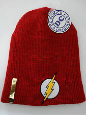The Flash Reverse Flash Reversible Logo DC Comics Slouch Knit Hat Nwt