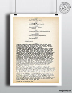 JAWS - Quint Speech Script Repr Minimalist Movie Poster Posteritty Minimal Film