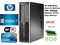 FAST HP PC COMPUTER i3  8GB 500GB Win 10 PRO FREE DELIVERY EXTREME PERFORMANCE