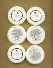SIX BVLGARI au the blanc EAU PARFUMEE SOAP SAVON ROUND BARS REAL SERIAL # 10 OZ