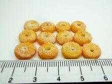SCALA 1:12 12 X Ciambelle Zucchero Casa delle Bambole Miniatura Accessorio Cucina Pane
