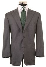 DAKS Gray Birdseye Woven 100% Wool Sport Coat Jacket 44 R