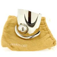 Versace Bangle Bracelet Silver Woman Authentic Used E614
