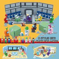 10pcs/set Among US game model minifigure building blocks action figures toys kid