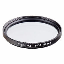 RISE(UK) 52mm Neutral Density ND2 Filter for Canon Nikon Sony Fuji Samsung Lens