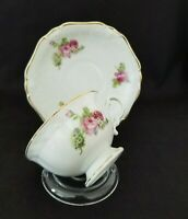 Vintage Porcelain REAL(brand)  from Brazil Tea Cup and Saucer  Small roses