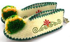 Tradicional Griego Lana Zapatillas 100% Suéter Suelas de Cuero Unisex 6.5 Gb 39
