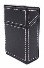 Black Stiched PU Cigarette Pack box Holder - For 85mm (Kings/Regular) Cigarettes