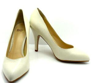 Noe High Heel Women Pumps Court Shoes Off White (Milk) UK 6 / EU 39