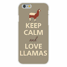 Keep Calm and Love Llamas FITS iPhone 6+ Plastic Snap On Case Cover New
