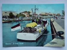 FIUMICINO il Porto Canale Cinema barca Roma vecchia cartolina