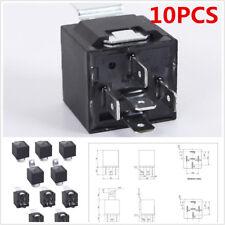 10 X Car Automotive Truck Alarm 12V Volt DC 30/40Amp AMP SPDT Relay 5Pin DIY