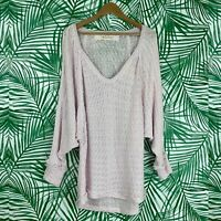 Free People We The Free Pink Thien's Hacci Top Women's Size Large