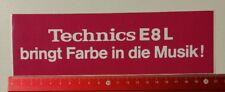 ADESIVI/Sticker: TECHNICS e8l porta colore in la musica (130317173)