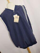 Adidas Men's Climashell Golf Wind Vest Reversible Navy Blue Vanilla Size Large