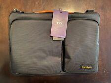 Tomtoc NEW Laptop Black Shoulder Bag Fits 13 Inch Macbook Accessory Compartments