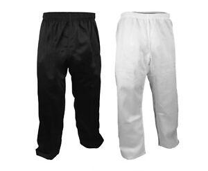 7.5 oz. Karate Taekwondo PANTS Martial Arts Gi Uniform White/Black, Size 0000-8