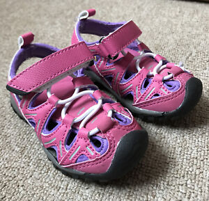 Northside Burke ii Young Girls Size 6 Velrco Pink Summer Walking Shoes