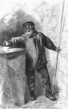 FISHING. The flyfisher, antique print, 1862