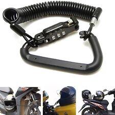 Noir Léger Combinaison Moto Casque De Moto Serrure avec T-Bar Caoutchouc