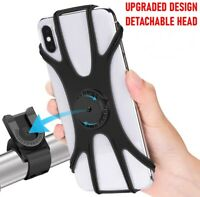 360 Rotation Motorcycle Bike MTB Bicycle Cell Phone Silicone Mount Holder GPS