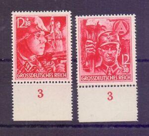 Deutsches Reich 1945 - Die beiden letzten Marken 909/910 - Michel 80,00 € (507)