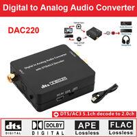 Digital to Analog Audio Converter HIFI DTS Fiber Optical Coaxial 2.0ch Decoder