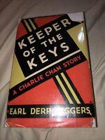 1st Edition Charlie Chan Keeper Of The Keys w/Orig DJ - Earl Derr Biggers 1932