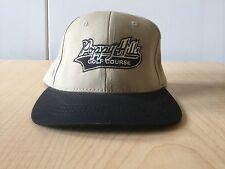 New POPPY HILLS PEBBLE BEACH CA CAP Adjustable Hat Khaki Tan w/Black