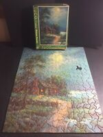 """VINTAGE TUCO DELUXE PICTURE PUZZLE 1 Piece Missing """"Cottage of Contentment"""""""