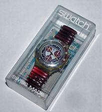 "Swatch Aqua-Chrono ""Red Snapper"" sbm 105 top OVP"