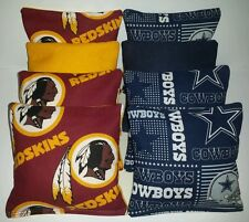 Set Of 8 All Weather Cowboys/ Redskins Cornhole Bags *Free Shipping!*