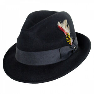 Jaxon Hats Blues Crushable Wool Felt Trilby Fedora Hat