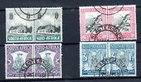South Africa 1933 Voortrekker fine used set in pairs SG50-53 WS19052