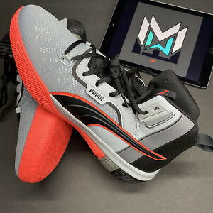 Puma Legacy Disrupt Black/Red/Grey Basketball Shoes 193018-01, Mens Size 11.5
