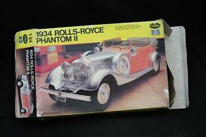 Testors/Italeri 1934 ROLLS-ROYCE PHANTOM II Model Kit 1:24 Scale Open Box NICE