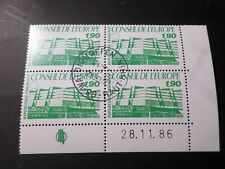 FRANCE 1986, timbre SERVICE 93 COIN DATE', CONSEIL EUROPE, oblitéré, VF STAMPS