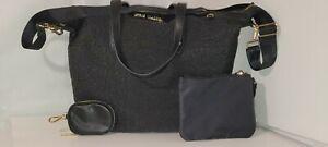 Steve Madden Lab top Black logo  shoulder Bag/Wristlet-NWT and ear bud holder