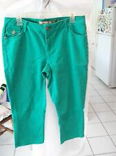 Woman's Green Capri Jeans by Vanilla Star Jeans Crop Fit Size 10