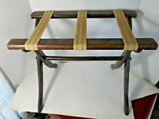 Vintage Luggage Stand Suitcase Rack  Wood Folding free shipping