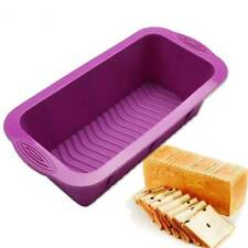 Baking Silicone Pans Rectangular Toast Box Grill Dish Cake Cooking Bread Mold HO