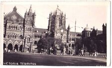 BOMBAY VICTORIA TRAIN Mumbai Chhatrapati Shivaji RAILWAY STATION OLD POSTCARD