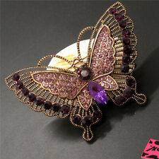Johnson Charm Brooch Pin Gift New Purple Crystal Vintage Butterfly Betsey
