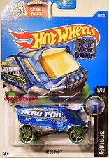 HOT WHEELS 2016 X-RACERS AERO POD #9/10 BLUE FACTORY SEALED