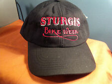 STURGIS BIKE WEEK  CAP / HAT  BLACK WITH RED LETTERS.....................  (SS)
