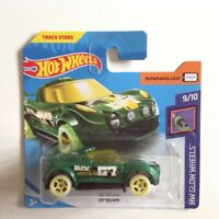 Hot Wheels Glow Wheels Hi Beam 1:64 Scale Die-cast Model Toy Car GREEN 252/365