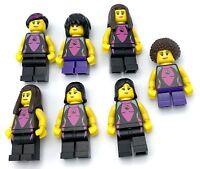 LEGO 7 NEW CITY MINIFIGURES SWIMMER GIRLS W/ HAIR FIGURES